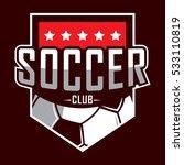 soccer logo  america logo ... | Shutterstock .eps vector #533110819