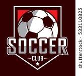 soccer logo  america logo ... | Shutterstock .eps vector #533110825
