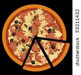 Realistic Illustration Pizza O...
