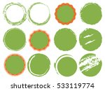 nine green circular shapes and... | Shutterstock .eps vector #533119774