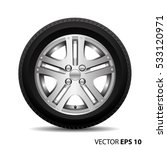 radial wheel alloy with tire on ... | Shutterstock .eps vector #533120971