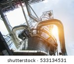 refinery oil and gas industry | Shutterstock . vector #533134531