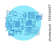blueprint and engineering... | Shutterstock . vector #533136457