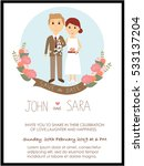 wedding invitation cards with... | Shutterstock .eps vector #533137204