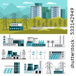 power generation orthogonal... | Shutterstock .eps vector #533142949