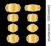 gold frames. beautiful simple... | Shutterstock . vector #533144641