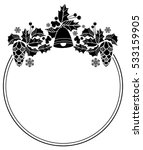 black and white round frame... | Shutterstock . vector #533159905