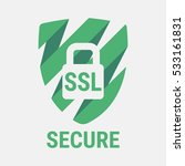 global ssl security icon. safe... | Shutterstock .eps vector #533161831