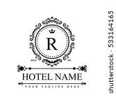 luxury logo template in vector... | Shutterstock .eps vector #533164165