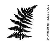 fern 22. silhouette of a fern... | Shutterstock .eps vector #533167279