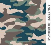 camouflage pattern background.... | Shutterstock .eps vector #533167879