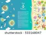 vector illustration. summer... | Shutterstock .eps vector #533168047