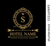 luxury logo template in vector... | Shutterstock .eps vector #533169895