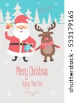 christmas and new year card... | Shutterstock .eps vector #533179165