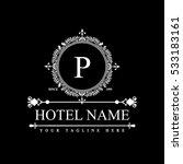 luxury logo template in vector... | Shutterstock .eps vector #533183161