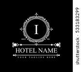 luxury logo template in vector... | Shutterstock .eps vector #533183299