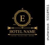 luxury logo template in vector... | Shutterstock .eps vector #533189011