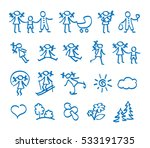 collection icons of a family ... | Shutterstock .eps vector #533191735