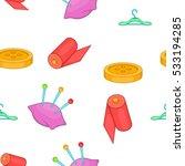 tailor needlework accessories...   Shutterstock .eps vector #533194285