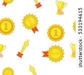 award elemenrs pattern. cartoon ... | Shutterstock .eps vector #533194615