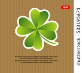 leaf clover sign icon. ecology... | Shutterstock .eps vector #533195671