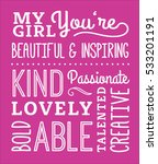 my girl compliments typography...   Shutterstock .eps vector #533201191
