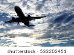 taking off airplane  flying in... | Shutterstock . vector #533202451