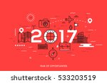 infographic banner  2017   year ... | Shutterstock .eps vector #533203519