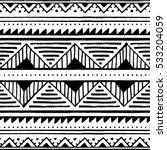 seamless ethnic pattern. black... | Shutterstock .eps vector #533204059