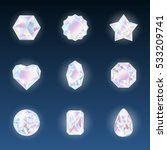 set of colorful vector jewels... | Shutterstock .eps vector #533209741