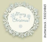 circle of snowflakes with... | Shutterstock .eps vector #533214865