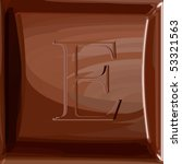 one letter of chocolate...   Shutterstock .eps vector #53321563
