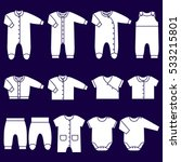 icons baby clothes. garments... | Shutterstock .eps vector #533215801