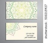 business card. vintage... | Shutterstock .eps vector #533215927