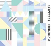 seamless geometric pattern in... | Shutterstock .eps vector #533222569
