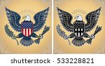 american eagle with usa flags | Shutterstock .eps vector #533228821