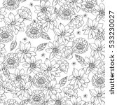floral seamless pattern with... | Shutterstock .eps vector #533230027