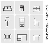 furniture line icons | Shutterstock .eps vector #533246971