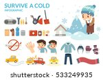 survive a cold. winter cold and ... | Shutterstock .eps vector #533249935