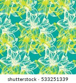 Geometric Print With Leaf And...