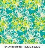 Geometric Print With Leaf And...