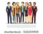 group of business men and women ... | Shutterstock .eps vector #533255905