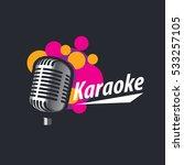 vector logo karaoke   Shutterstock .eps vector #533257105