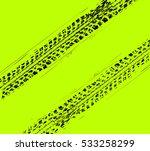 tire tracks background. vector... | Shutterstock .eps vector #533258299