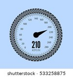 speedometer vector illustration.... | Shutterstock .eps vector #533258875