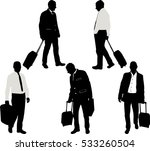 businessman with traveling bags ... | Shutterstock .eps vector #533260504