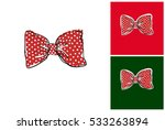 red bow tie. isolated vector... | Shutterstock .eps vector #533263894
