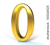 the number 0   gold | Shutterstock . vector #53326525