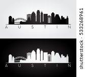 austin usa skyline and... | Shutterstock .eps vector #533268961