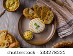 grilled camembert with... | Shutterstock . vector #533278225